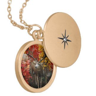 Whitetail In Autumn Locket Necklace