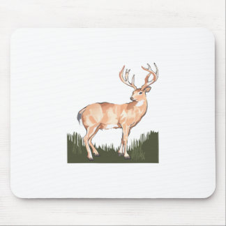 WHITETAIL IN GRASS MOUSE PAD