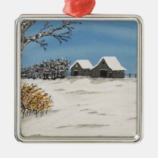Whitetail Lookout Metal Ornament