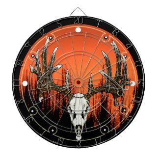 Whitetail skull dartboard