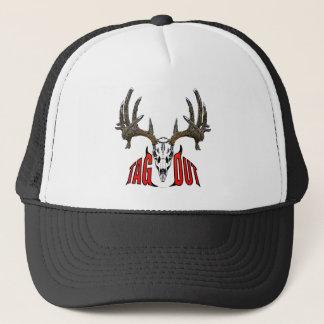 Whitetail skull trucker hat