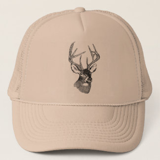 WhiteTailed Deer Head Trucker Hat