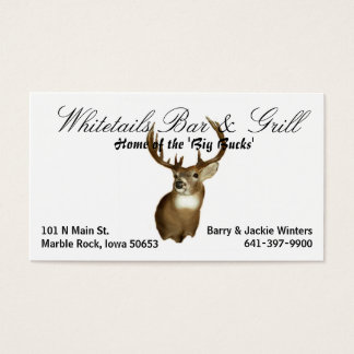 Whitetails Bar & Grill Business Card