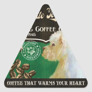 WhiteTerrier Brand – Organic Coffee Company Triangle Sticker