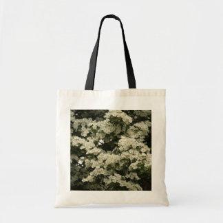 whitethorn floreciente bolsa tela barata