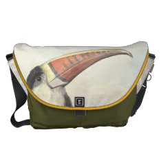Whitethroated American Toucan Vintage Watercolor Courier Bag at Zazzle