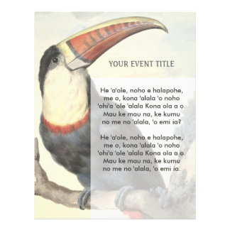 Whitethroated American Toucan Vintage Watercolor Flyer