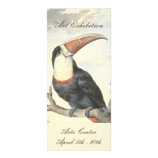 Whitethroated American Toucan Vintage Watercolor Rack Card