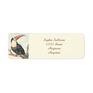 Whitethroated American Toucan Vintage Watercolor Return Address Label