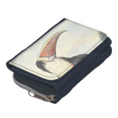 Whitethroated American Toucan Vintage Watercolor Wallet at Zazzle