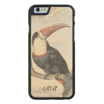 Whitethroated American Toucan Vintage Carved® Maple iPhone 6 Case at Zazzle