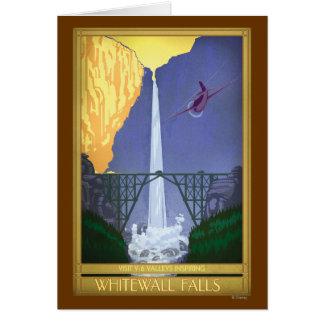 Whitewall Falls Illustration Greeting Card