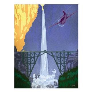 Whitewall Falls Illustration Postcard