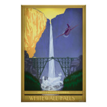 Whitewall Falls Illustration Poster