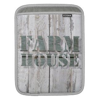 whitewashed barn wood western country farmhouse iPad sleeve