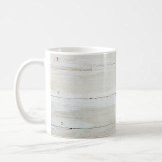 whitewashed Barn Wood White Woodgrain Coffee Mug