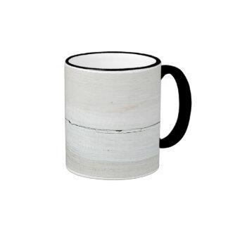 whitewashed Barn Wood White Woodgrain Ringer Mug