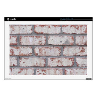 "Whitewashed Brick Wall Skins For 17"" Laptops"