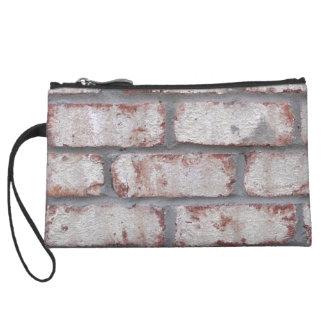 Whitewashed Brick Wall Wristlet Wallet