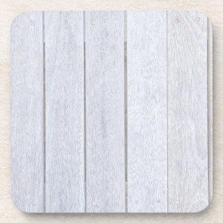 Whitewashed Old Weathered Wood Background Wooden Coaster