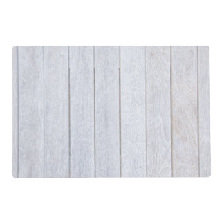 Whitewashed Old Weathered Wood Background Wooden Laminated Placemat