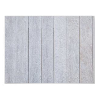 Whitewashed Old Weathered Wood Background Wooden Poster