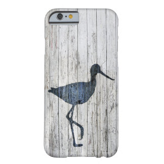 Whitewashed Wood and Avocet Barely There iPhone 6 Case