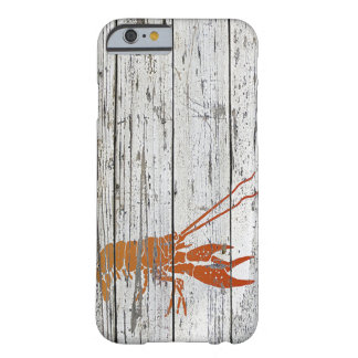 Whitewashed Wood and Lobster Barely There iPhone 6 Case