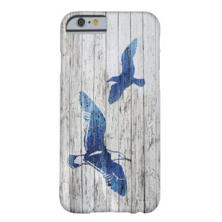 Whitewashed wood and Seagulls Barely There iPhone 6 Case