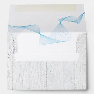 whitewashed wood envelope