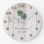 Whitewashed Wood Shabby Chic Personalized Clock