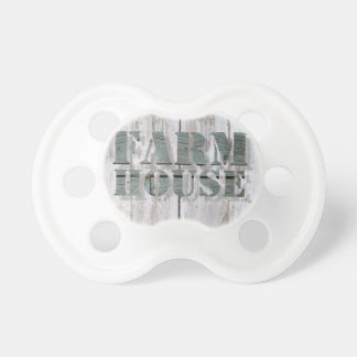 whitewashed wood western country farmhouse pacifier