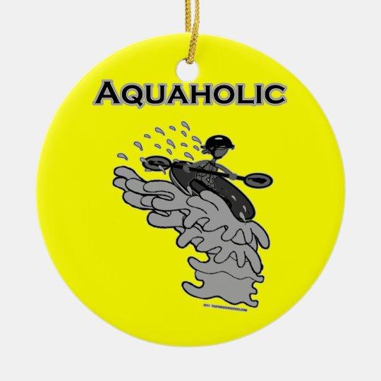 Whitewater Aquaholic Silhouette Shirts & Things Ceramic Ornament