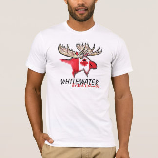 Whitewater BC artistic Canadian flag moose tee