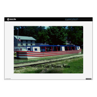 Whitewater Canal Boat Laptop Decal