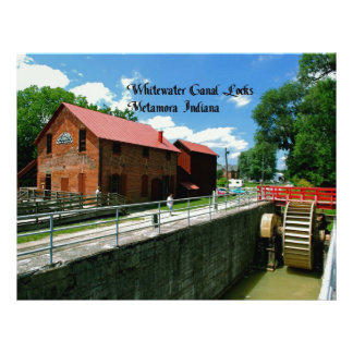 Whitewater Canal Locks Personalized Letterhead