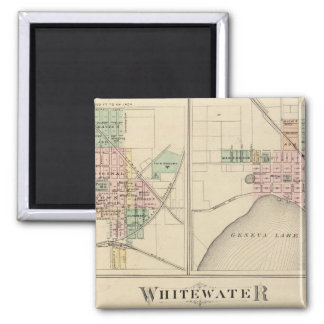 Whitewater, Elkhorn and Geneva 2 Inch Square Magnet