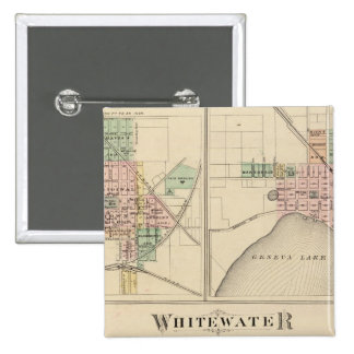 Whitewater, Elkhorn and Geneva Pinback Buttons