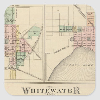 Whitewater, Elkhorn and Geneva Square Sticker