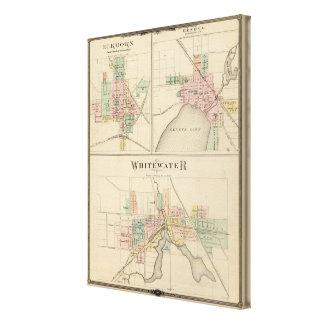 Whitewater, Elkhorn y Ginebra Impresion En Lona
