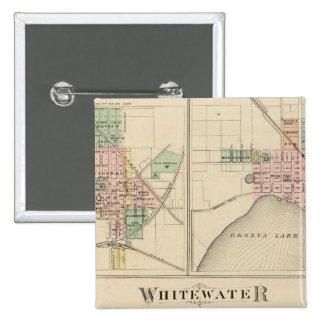 Whitewater, Elkhorn y Ginebra Pin Cuadrado