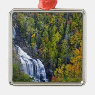 Whitewater Falls in the Nantahala National Metal Ornament