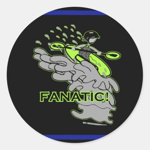 Whitewater Fanatic! Classic Round Sticker