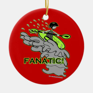 Whitewater Fanatic! Double-Sided Ceramic Round Christmas Ornament