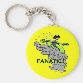 Whitewater Fanatic! Basic Round Button Keychain