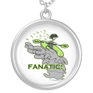 Whitewater Fanatic! Round Pendant Necklace