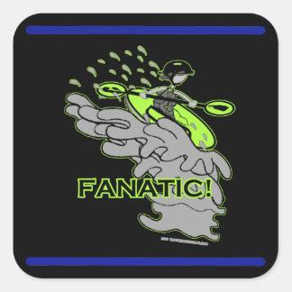 Whitewater Fanatic! Square Sticker