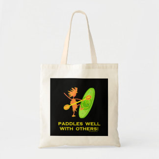 Whitewater Kayak - Paddles Well With Others 2 Tote Bag