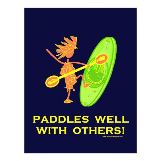 Whitewater Kayak - Paddles Well With Others 2 Personalized Flyer