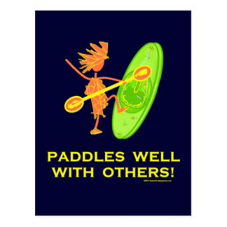 Whitewater Kayak - Paddles Well With Others 2 Postcard